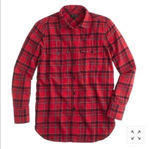 Boyfriend flannel shirt in red plaid